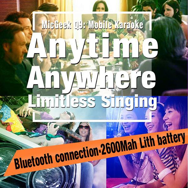 ไมค์คาราโอเกะ บลูทูธ ไร้สาย Karaoke Bluetooth Microphone รุ่น Q9 -4