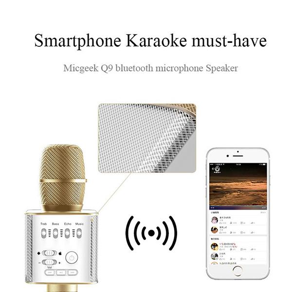 ไมค์คาราโอเกะ บลูทูธ ไร้สาย Karaoke Bluetooth Microphone รุ่น Q9 -5