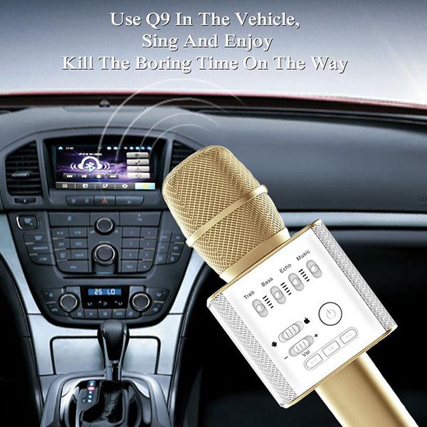 ไมค์คาราโอเกะ บลูทูธ ไร้สาย Karaoke Bluetooth Microphone รุ่น Q9 -6