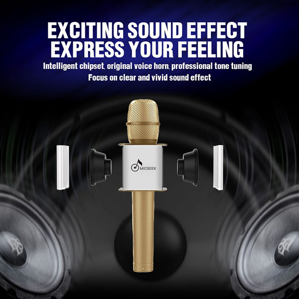 ไมค์คาราโอเกะ บลูทูธ ไร้สาย Karaoke Bluetooth Microphone รุ่น Q9 -8
