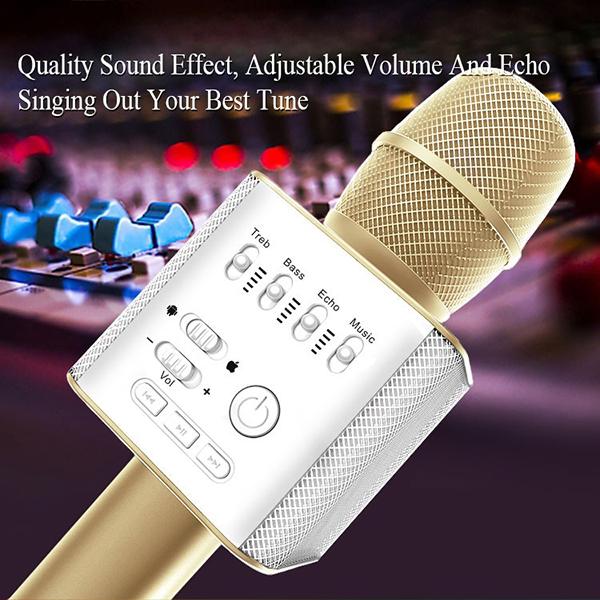 ไมค์คาราโอเกะ บลูทูธ ไร้สาย Karaoke Bluetooth Microphone รุ่น Q9 -11