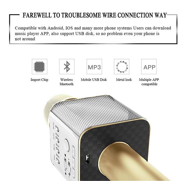 ไมค์คาราโอเกะ บลูทูธ ไร้สาย Karaoke Bluetooth Microphone รุ่น Q9 -12