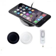 ล้ำๆ สำหรับ iPhone แท่นชาร์จไร้สาย+แผ่นชาร์จ Lightning สีขาว