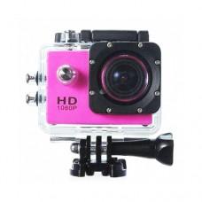 กล้องกันน้ำ Action CamCorder FHD 1080P No WiFi สีชมพู