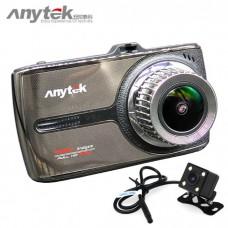 Anytek G66 กล้องติดรถยนต์ หน้าจอทัชสกรีน (Touch Screen) มี 2 กล้อง หน้า+หลัง