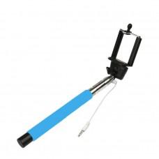 Monopod Selfie Handheld Z07-7 พร้อมรีโมทในตัวแบบใช้สาย – สีฟ้า