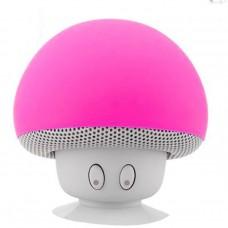 ลำโพงเห็ดบลูทูธ รุ่น BT280 Mushroom Bluetooth Speaker สีชมพู