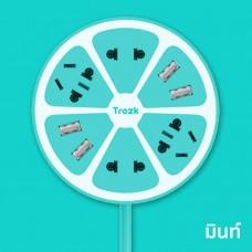 Trozk ปลั๊กไฟทรงผลไม้ 4 Power Station 4 USB Socket สำหรับชาร์จมือถือ Smartphone สีมิ้นต์